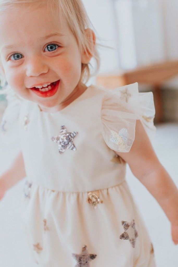 girls ivory outfit